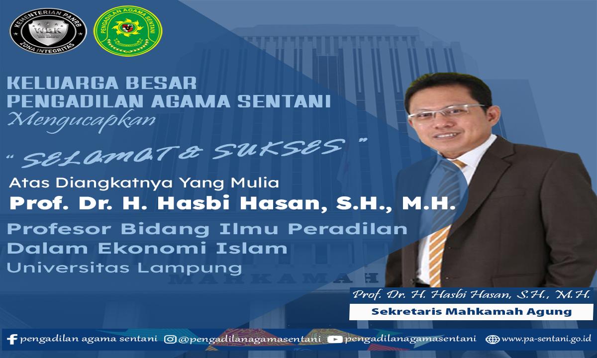 Selamat & Sukses Kepada Sekretaris Mahkamah Agung Republik Indonesia