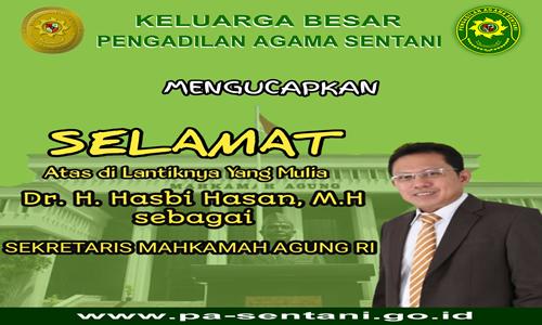 Segenap Pimpinan, Hakim dan Pegawai Pengadilan Agama Sentani Mengucapkan